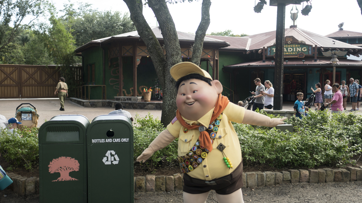 Russell roaming the Animal Kingdom