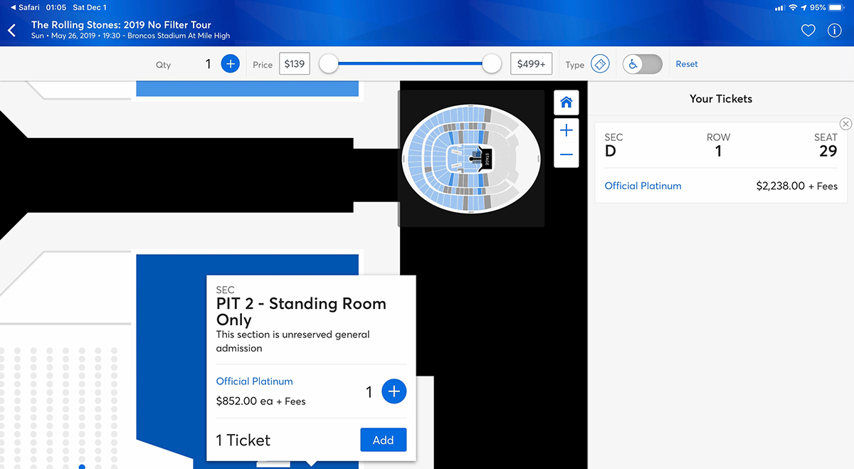 Rolling Stones Ticket Prices: 2019 No Filter Tour