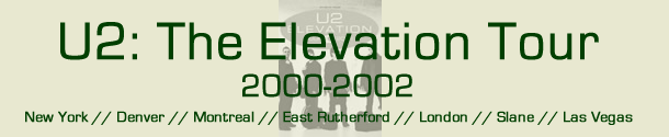 U2: The Elevation Tour